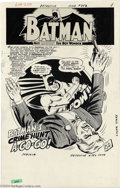Original Comic Art:Splash Pages, Sheldon Moldoff and Joe Giella - Detective Comics #352, page 1Original Art (DC, 1966). A roundhouse right from the Masked M...