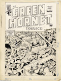 Original Comic Art:Covers, Alex Schomburg - Green Hornet #21 Cover Original Art (Harvey,1944). America's favorite World War II cover artist does it ag...