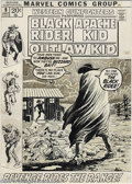 Original Comic Art:Covers, John Severin - Western Gunfighters #9 Cover Original Art (Marvel,1971). John Severin spent a lot of time during his days at...