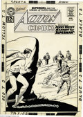 Original Comic Art:Covers, Curt Swan and Sheldon Moldoff - Action Comics #287 Cover OriginalArt (DC, 1962). Superman is a fugitive from an armed manhu...