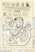 "Original Comic Art:Covers, Dave Tendlar - Original Cover Art for Harvey Comic Hits #60""Paramount Animated Comics"" (Harvey, 1953). This early cover mar..."