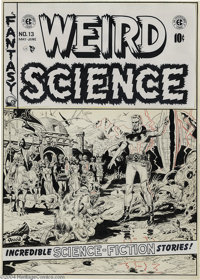 Wally Wood - Weird Science #13 Cover Original Art (EC, 1952). One of the finest artists to illustrate the pages of EC Co...