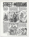 "Original Comic Art:Complete Story, Robert Crumb - New Yorker Magazine Two Page Story ""Street Musicians"" Original Art (New Yorker, 1996). For such a huge fan of..."