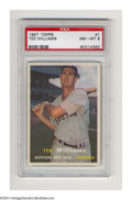 Baseball Cards:Singles (1950-1959), Baseball 1957 TOPPS TED WILLIAMS #1 NM/MT PSA 8. Late-...