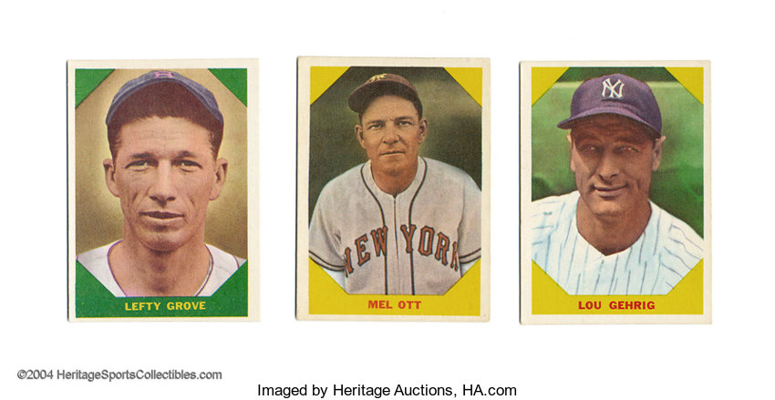 1960 Fleer All Time Great 8 Ct Group Lot Appraised
