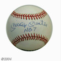 "Autographs:Baseballs, Baseball Autograph MICKEY MANTLE SIGNED BASEBALL. The ""..."