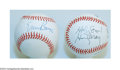 Autographs:Baseballs, ERNIE BANKS AND HARRY CARAY SIGNED BASEBALLS. For the ... (2 items)