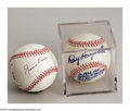 Autographs:Baseballs, HAYWORTH & REESE SIGNED BASEBALLS PSA. A pair of colorful ...(2 items)