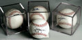 Autographs:Baseballs, 4 CT. NEW YORK METS SIGNED BASEBALLS PSA. Includes Gregg ... (4items)
