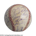 Autographs:Baseballs, 1960 BOSTON RED SOX TEAM SIGNED BASEBALL PSA. It was Ted ...