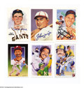 Autographs:Post Cards, Baseball Autograph 6 CT. BASEBALL HOF SIGNED POSTCARDS. ...