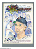 Autographs:Others, Baseball Autograph 3 CT. VANDER MEER, LARSEN, SAIN and BOBBY ... (3 items)