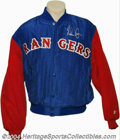 Autographs:Others, NOLAN RYAN SIGNED TEXAS RANGERS JACKET. A colorful Texas ...