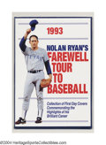 Autographs:Others, NOLAN RYAN SIGNED STAMP COLLECTION. A fitting tribute to ...