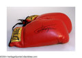 Boxing Collectibles:Autographs, Boxing Autograph JOE FRAZIER SIGNED BOXING GLOVES. Signed ...