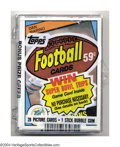 Football Cards:Other, Football Miscellaneous 1984 TOPPS FOOTBALL CELLO PACK W/ DAN ...