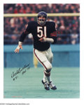 Football Collectibles:Photos, Football Autograph DICK BUTKUS SIGNED 16 X 20 PHOTO. The ...