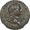Ancients:Roman Imperial, Ancients: Domitian, as Caesar (AD 81-96). AE sestertius (35mm, 24.47 gm, 6h). NGC Choice XF 4/5 - 4/5, light smoothing....