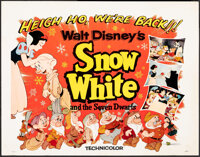 Snow White and the Seven Dwarfs & Other Lot (Buena Vista, R-1958). Rolled, Overall: Fine/Very Fine. Half Sheets (2)...