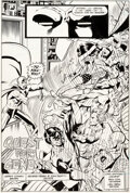 Original Comic Art, George Perez and John Beatty Justice League of America #192 Story Page 3 Original Art (DC, 1981). ...