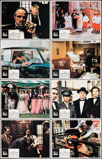 """The Godfather (Paramount, 1972). Overall: Very Fine. Lobby Card Set of 8 (11"""" X 14""""). Crime. ... (Total: 8 Ite..."""