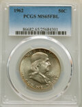 Franklin Half Dollars: , 1962 50C MS65 Full Bell Lines PCGS. PCGS Population: (291/23). NGC Census: (34/5). CDN: $800 Whsle. Bid for NGC/PCGS MS65. ...