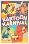 "Movie Posters:Animation, Kartoon Karnival (MGM, 1954). Folded, Fine+. One Sheet (27"" X 41""). Animation.. ..."