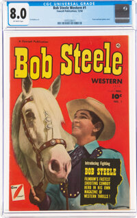 Bob Steele Western #1 (Fawcett Publications, 1950) CGC VF 8.0 Off-white pages