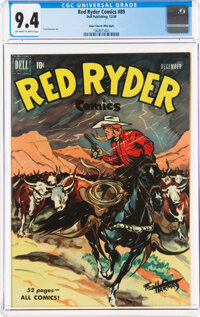 Red Ryder Comics #89 Mile High Pedigree (Dell, 1950) CGC NM 9.4 Off-white to white pages