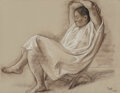 Works on Paper, Francisco Zúñiga (Mexican, 1912-1998). Seated Woman, 1975. Charcoal and pastel on paper. 19 x 24-3/8 inches (48.3 x 61.9...