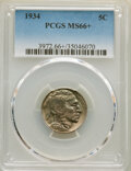 Buffalo Nickels: , 1934 5C MS66+ PCGS. PCGS Population: (242/42 and 18/9+). NGC Census: (89/6 and 3/2+). CDN: $400 Whsle. Bid for NGC/PCGS MS6...