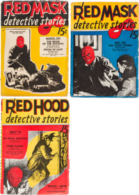 Red Mask Detective Stories Group of 3 (Albing Publications, 1941).... (Total: 3 Items)