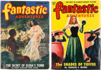 Fantastic Adventures Yakima Pedigree Group of 2 (Ziff-Davis, 1947-50) Condition: Average VF.... (Total: 2 Items)