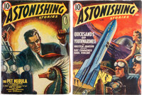 Astonishing Stories Yakima Pedigree Group of 2 (Fictioneers Inc., 1940-41) Condition: Average VF.... (Total: 2 Items)