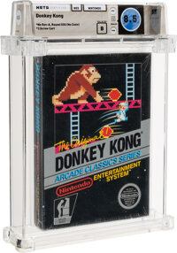Donkey Kong - Wata 8.5 B Sealed [No Rev-A, Round SOQ, Mid Production], NES Nintendo 1986 USA