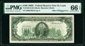 Offset Printing of Front to Back Fr. 2166-H $100 1969C Federal Reserve Note. PMG Gem Uncirculated 66 EPQ