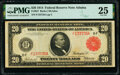 Fr. 957 $20 1914 Red Seal Federal Reserve Note PMG Very Fine 25