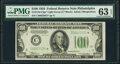 Small Size:Federal Reserve Notes, Fr. 2152-C* $100 1934 Light Green Seal Federal Reserve Note. PMG Choice Uncirculated 63 EPQ.. ...