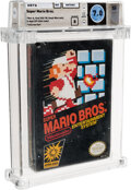 Video Games:Nintendo, Super Mario Bros. - Wata 7.0 B Sealed [Oval SOQ TM, Later Release], NES Nintendo 1985 USA. ...