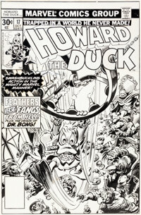 Gene Colan and Tom Palmer Howard the Duck #17 Cover Original Art (Marvel, 1977)