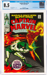 Captain Marvel #2 (Marvel, 1968) CGC VF+ 8.5 Off-white to white pages