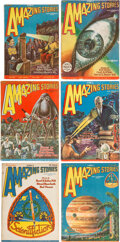 Pulps:Science Fiction, Amazing Stories Group of 6 (Ziff-Davis, 1928) Condition: Average VG/FN.... (Total: 6 Items)