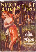 Pulps:Adventure, Spicy Adventure Stories - February 1936 (Culture) Condition: VG/FN....