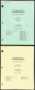 Gene Roddenberry's Andromeda (Sci-Fi Channel, 2000). Very Fine. Television Shooting Scripts (2) (Multiple Pages, 8.5&quo...