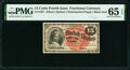 Fractional Currency:Fourth Issue, Fr. 1267 15¢ Fourth Issue Seal Plate Number 8 PMG Gem Uncirculated 65 EPQ.. ...