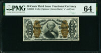 Fr. 1342 50¢ Third Issue Spinner Type II PMG Choice Uncirculated 64