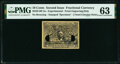Fractional Currency:Second Issue, Milton 2E10F.2a 10¢ Second Issue Experimental PMG Choice Uncirculated 63, 2 POCs.. ...