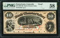 Obsoletes By State:Pennsylvania, Coatesville, PA- Bank of Chester Valley $10 18__ as G10a as Hoober 69-4 Proof PMG Choice About Unc 58.. ...