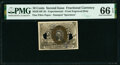 Fractional Currency:Second Issue, Milton 2E10F.2b 10¢ Second Issue PMG Gem Uncirculated 66 EPQ.. ...