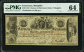 Obsoletes By State:Tennessee, Memphis, TN- Farmers' & Merchants' Bank of Memphis $100 Feb. 20, 1854 G64a S-C M-B.F&M-100-2a PMG Choice Uncirculated 64....